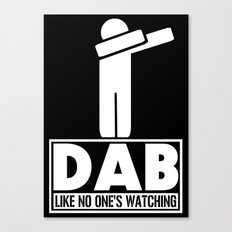 Dab Like No One's Watching Canvas Print