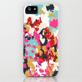 Inez - Modern Abstract painting in bold colors for trendy modern feminine gifts ideas  iPhone Case