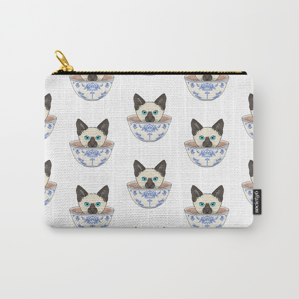 Cat In A Cup Carry-all Pouch by Brauseflummistudio CAP8529079