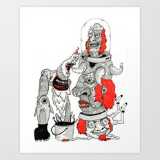 Mamas Lil Monster Art Print