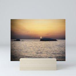 Sunset in Sardinia - Baia Trinita, La Maddalena, Italy Mini Art Print