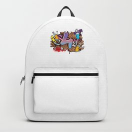 Hiphop Dancer Graffiti Artist Typography 4th Birthday Hip Hop Urban Wall Mural Street Art Backpack