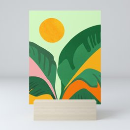 Things Are Looking Up / Tropical Greenery Mini Art Print