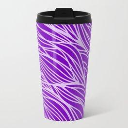 Violet Wave Lines Travel Mug