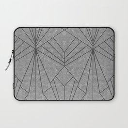 Art Deco in Black & Grey - Large Scale Laptop Sleeve