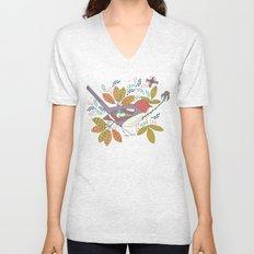 Bird and Butterfly  Unisex V-Neck