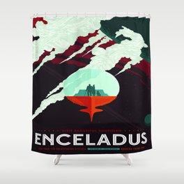 Vintage poster -Enceladus Shower Curtain