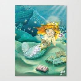 How mermaids get new books Canvas Print