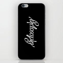 Philosophy iPhone Skin
