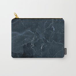 Dark blue marble texture Carry-All Pouch