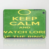 lord of the rings iPad Cases featuring Lord of the Rings by MeMRB