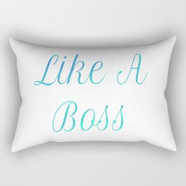 Like A Boss Travel Mug Rectangular Pillow