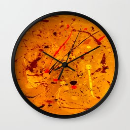 Abstract #2 - Embers Wall Clock