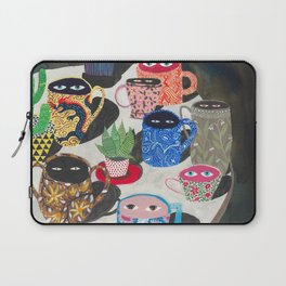 Suspicious mugs Laptop Sleeve