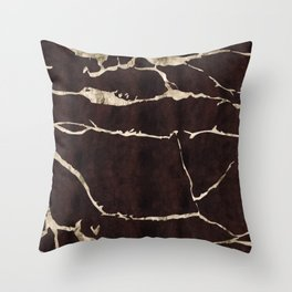 Russet Suede Throw Pillow