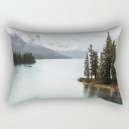 Landscape Photography Maligne Lake Rectangular Pillow