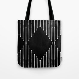 Geo / Black Tote Bag