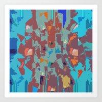 camo Art Prints featuring Camo by Lara Gurney