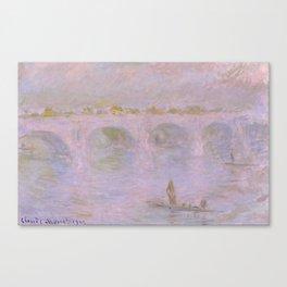 1902-Claude Monet-Waterloo Bridge in London-65 x 100 Canvas Print