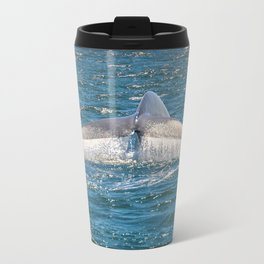 Blue whale tail Waterfall Metal Travel Mug