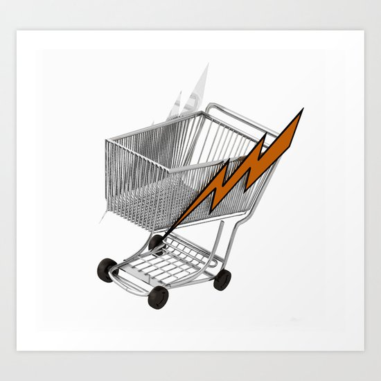 lightning trolley Art Print