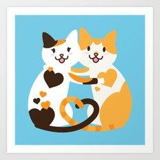 Lovecats Art Print