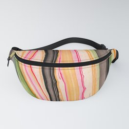 Watercolor strokes on wood III Fanny Pack
