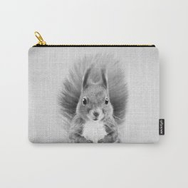 Squirrel 2 - Black & White Carry-All Pouch