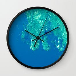 Waves under the water Wall Clock