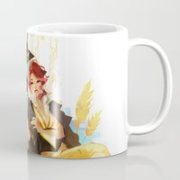 transistor Mugs featuring See You in the Country - Transistor by Stephanie Kao
