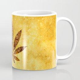 Vintage Cannabis Leaf Coffee Mug