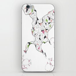 At Night the Lab Mice Bend Space and Time iPhone Skin