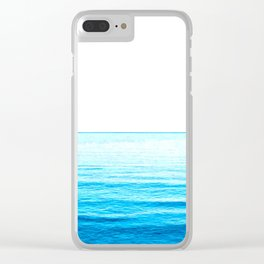 Blue Ocean Illustration Clear iPhone Case