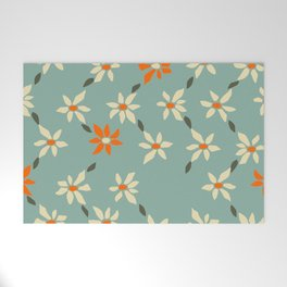Daily pattern: Retro Flower No.11 Welcome Mat