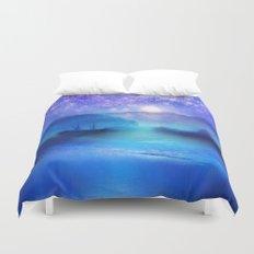 Fantasy in Blue. Duvet Cover