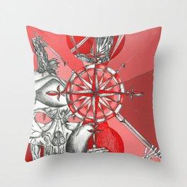 Red Samurai Reaper Throw Pillow