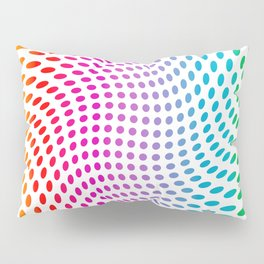 Approaching and receding shapes in CMYK - Optical game 17 Pillow Sham