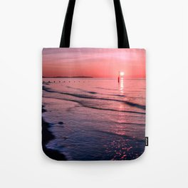 Seascape Sunset Wales Tote Bag