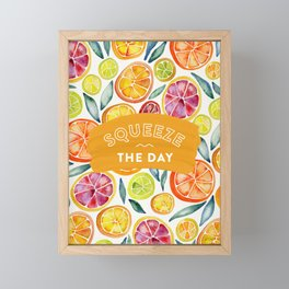 Squeeze the Day – Multi Palette Framed Mini Art Print