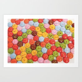 kawaii chocolate Art Print