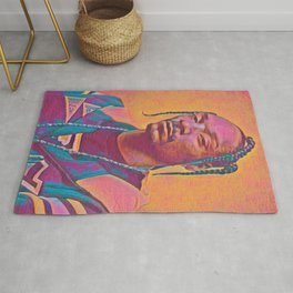 Snoop Dogg Thoughtful Artistic Illustration Acid Acrylic Style Rug