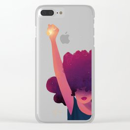 Black Girls are Magic Clear iPhone Case