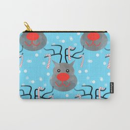 Reindeer And Candy Canes Carry-All Pouch
