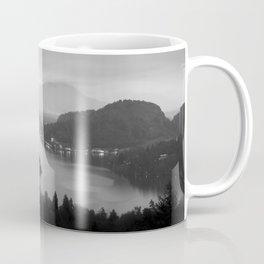 Black and White Bled Slovenia Coffee Mug