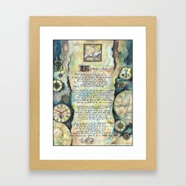 "Calligraphy of the poem ""IF"" by Rudyard Kipling Framed Art Print"