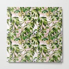 Jungle botanical succulent Metal Print