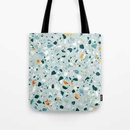 Mint Terrazzo #pattern #abstract Tote Bag