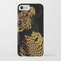 jaguar iPhone & iPod Cases featuring Jaguar by Die Farbenfluesterin
