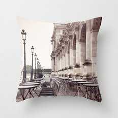 Paris, Cafe Marli Throw Pillow