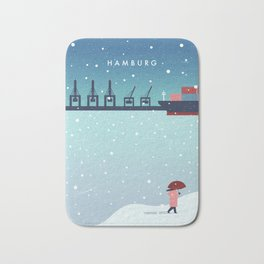 Hamburg winter Bath Mat